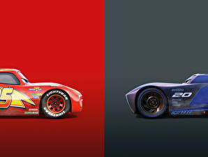 Image Cars 3 Two Lightning McQueen, Jackson Storm Cartoons