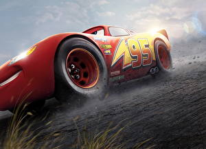 Wallpaper Cars 3 Red Lightning McQueen