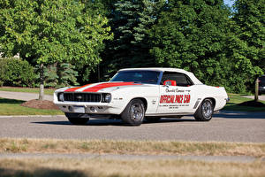 Pictures Chevrolet Vintage White 1969 Camaro RS-SS 350 Z11 Convertible Indy 500 Pace Car Replica Cars