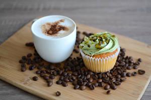 Hintergrundbilder Kaffee Cappuccino Törtchen Cupcake Getreide Schneidebrett Lebensmittel