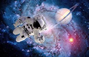 Bureaubladachtergronden Astronaut Amerikaanse