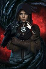 Hintergrundbilder Krähen Messer Dragon Age Kapuze Handschuh Inquisition Spiele Fantasy