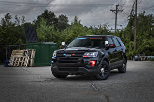 Pictures Ford Black Police Explorer automobile