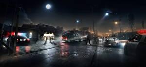 Bilder Hubschrauber Battlefield Hardline Polizei Nacht Spiele