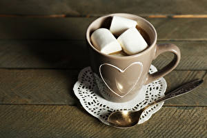 Wallpapers Cocoa Cup Marshmallow Spoon