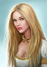 Bakgrunnsbilder Bokillustrasjoner Blonde Hår Ser Vakker Asterith Dragonclore Unge_kvinner