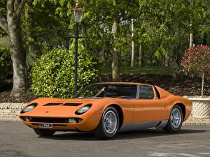 Fotos Lamborghini Antik Orange Metallisch 1969-71 Miura P400 S Bertone
