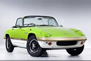 Desktop wallpapers Lotus Retro Yellow green 1971-73 Elan Sprint Drophead Coupe automobile