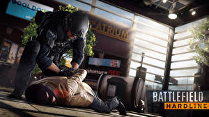 Pictures Man Masks Battlefield Hardline Police 2 Special Weapons Assault Team Games 3D_Graphics