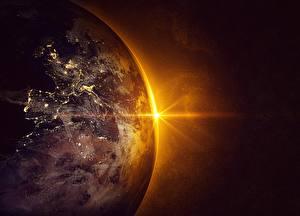 Hintergrundbilder Planeten Sonnenaufgänge und Sonnenuntergänge Erde