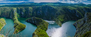 Image River Serbia Canyon Cliff From above Uvac Canyon Nature