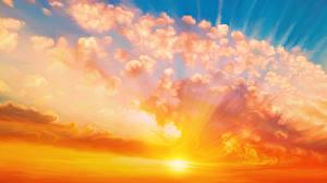 Bilder Sonnenaufgänge und Sonnenuntergänge Gezeichnet Wolke Sonne Natur