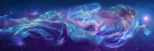 Fonds d'écran Les êtres surnaturels Trois 3 Fantasy Filles
