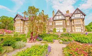Pictures United Kingdom Building Gardens Mansion Design Bush Wales Graig Cities