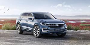 Hintergrundbilder Volkswagen Blau Crossover GTE T-Prime Concept automobil