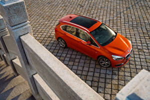 Wallpapers BMW Orange From above 2016 220i Active Tourer Luxury Line Cars