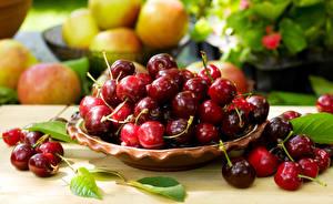 Fotos Kirsche Großansicht Blattwerk Lebensmittel