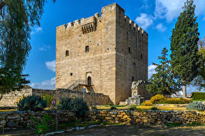 Photo Cyprus Castles Trees Kolossi Castle Cities