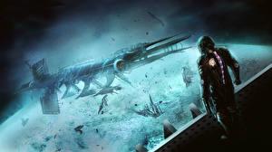 Bureaubladachtergronden Dead Space Schip isaac clarke computerspel Fantasy Ruimte