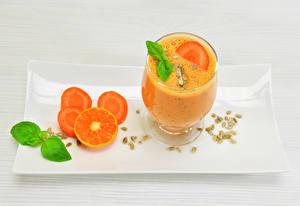 Wallpaper Drinks Juice Orange fruit Apricot Stemware Gray background Food