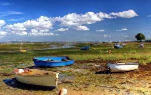 Picture England Coast Boats Sky Clouds Havant Borough Nature