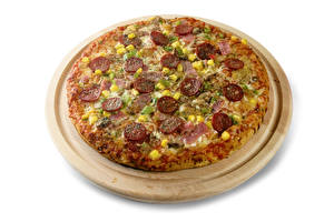 Images Fast food Pizza White background Cutting board Food