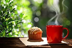 Bilder Muffin Keks Tasse Dampf Lebensmittel