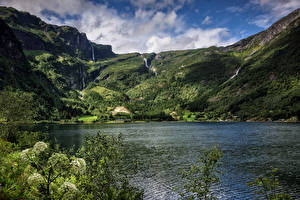 Fotos Norwegen Berg See Sogn og Fjordane Natur