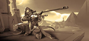 Image Overwatch Sniper rifle Snipers Bounty Hunter, Ana Amari vdeo game
