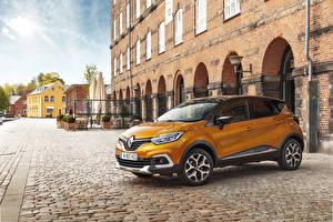 Papel de Parede Desktop Renault Amarelo Metálico 2017 Captur Worldwide automóvel