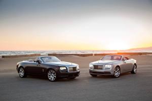 Fotos Rolls-Royce Zwei Cabrio Metallisch Luxus 2016 Dawn