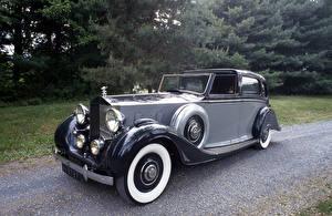 Hintergrundbilder Rolls-Royce Retro Grau 1938 Phantom III Limousine de Ville by Arthur Mulliner Autos