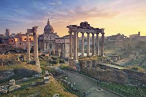 Hintergrundbilder Rom Italien Ruinen Säulen Städte