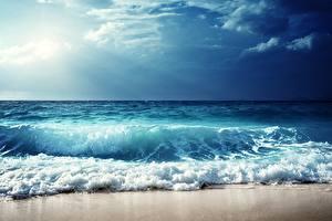 Image Sky Sea Waves Horizon Nature