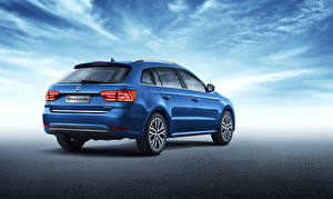 Hintergrundbilder Volkswagen Blau Hinten Kombi 2015 Lavida automobil