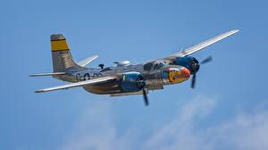 Bilder Flugzeuge Bomber Amerikanisch Flug A-26, Invader, Douglas Luftfahrt