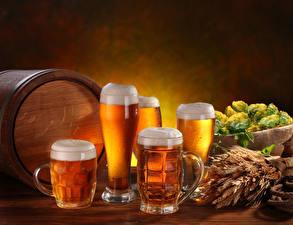 Wallpapers Beer Barrel Hops Mug Foam Highball glass Spikes