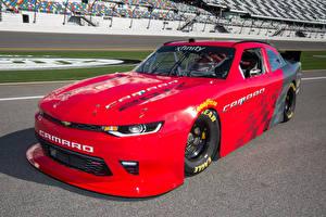 Hintergrundbilder Chevrolet Fahrzeugtuning Rot Metallisch 2017 Camaro SS NASCAR Race Car Autos