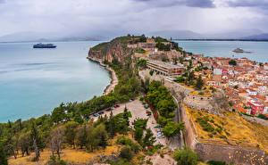 Bilder Griechenland Gebäude Küste Bucht Nafplio Städte