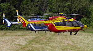 Wallpaper Helicopters 2 Side Eurocopter EC-145 Aviation