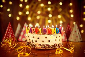 Pictures Holidays Cakes Candles Birthday English Food