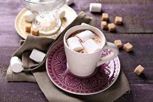 Images Hot chocolate drink Marshmallow Cup Saucer