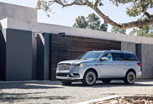 Bilder Lincoln Luxus Silber Farbe 2018 Navigator