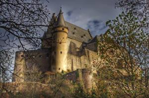 Bilder Luxemburg Burg Ast Castle Vianden Städte