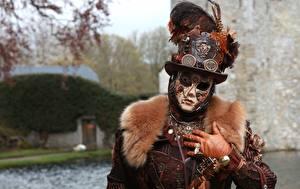 Fotos Maske Karneval und Maskerade Steampunk Der Hut Mechanismus Cosplay