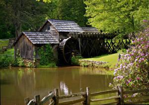 Bilder Wassermühle Natur