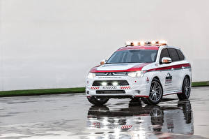 Hintergrundbilder Mitsubishi Softroader Outlander, Safety Car