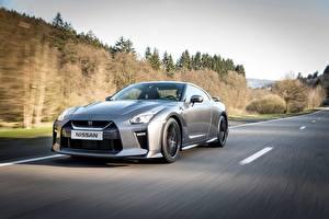 Bilder Nissan Graue Bewegung GT-R Autos