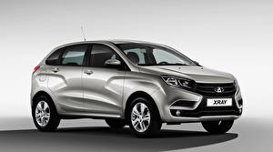 Pictures Russian cars Lada Gray background Crossover XRAY auto