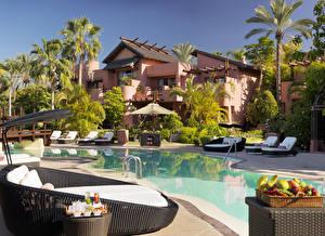Fotos Spanien Villa Resort Kanarische Inseln Schwimmbecken Sonnenliege Palmen Tenerife Städte